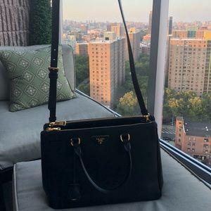Prada Galleria Medium Saffiano Tote Bag, Black